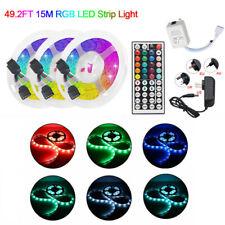 LED Strip Lights 10-15M 3528 RGB Dimmable TV Back Lighting+DC 12V Remote Control