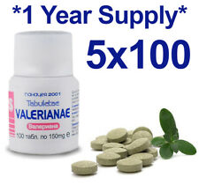 VALERIAN 100% Natural Herbal Organic Tablets Sleeping Anxiety Depression Stress