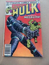 The Incredible Hulk 275 . Vs Megalith . Marvel 1982 - FN
