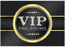 16 edle VIP Einladungskarten Geburtstag - V.I.P. - Für Party, WG, Einweihung