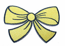 A1314 ricamate patch Rockabilly OLD SCHOOL TATTOO FIOCCO Rockabella GIALLO Bow