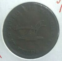 1835 Hard Times Token - Lansingburgh New York - Walsh's General Store