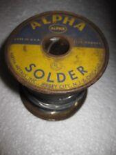Vintage Alpha Cen-Tri Energized Rosin Solder 5 lbs. Spool .050 diam 40/60 alloy