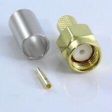 10 X SMA Male Crimp Plug for RG58, RG223, LMR195, 10pcs, 10x