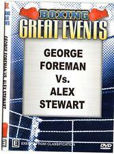 GEORGE FOREMAN VS ALEX STEWART + JAMES TONEY VS GLENN WOLFE BOXING DVD