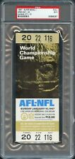 1967 SUPER BOWL 1 I PACKERS CHIEFS GOLD FULL TICKET PSA 5 POP 2 ONLY 7 HIGHER!