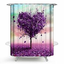 Phnam Floral Watercolor Flower Shower Curtain Sets with Hooks Waterproof Colorf