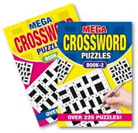 2 X A5 Mega Crossword  Puzzle Book Books 450 Powerful Puzzles A5 Pages Trivia