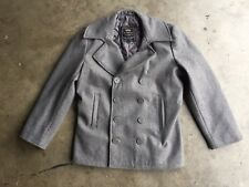 Alpha Industries US Navy Ensign Pea Coat sz Large Light Gray