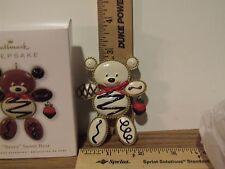 "Hallmark 2010 ""Berry"" Sweet Bear - Vanilla  Repaint - Register to Win - Ornament"