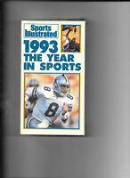 VHS tape Sports Illustrated 1993 The Year In Sports