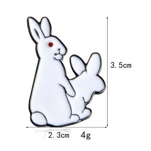 1pcs Red eyed Rogue Rabbit Brooch accessories Creative Cartoon Brooch
