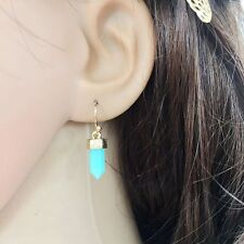 Geometry Luxury Resin Stone Druzy Dangle Drop Quartz Earrings for Women Jewelry