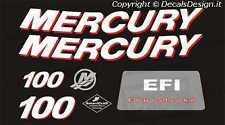 Adesivi motore marino fuoribordo mercury 100 cv four stroke barca stickers