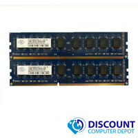 4GB KIT 2 x 2GB DDR3 1333Mhz PC3 10600u Intel Desktop DIMM Memory RAM 240 Pin