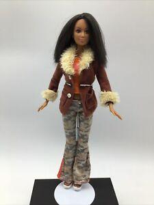 Barbie Fashion Fever Kayla Doll #H0650 Outfit Camo Pants Brown Jacket Shoes Nice