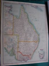 1922 LARGE ANTIQUE MAP- AUSTRALIA-EASTERN SECTION