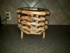 Plant Stand Wood Flower Pot Holder Display Potted Rack Rustic Decor