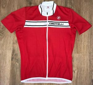 Castelli Red cycling jersey size XL