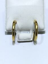 18K Solid Yellow Gold Smooth Huggie Earrings With Butterfly Backing 1.04g