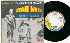 """BOF STAR WARS 45 TOURS 7"""" FRANCE LA GUERRE DES ETOILES NEIL NORMAN LES BAXTER"""