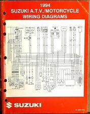 "SUZUKI SERVICE MANUAL Motorcycle & ATV Wiring Diagrams 1994 ""R"" MODELS"