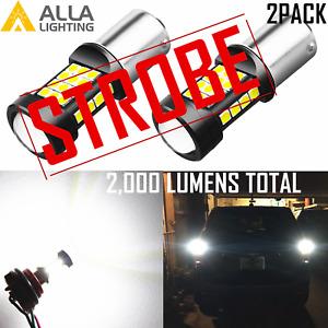 1156 Legal STROBE White Back Up Brake Center High Stop Daytime Running DRL Bulb