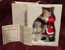 Mib Lenox 1999 Christmas Santa Sculpture, Rare, With Box & Coa