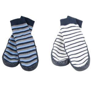 NEW SKEANIE Baby Socks Blue/Grey & Navy/White Moccasins 2 Pack. RRP $49.90