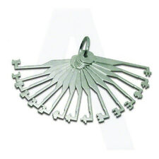 Locksmith tools Mortice lock opening tryout keys ideal for 3 lever locks.Inc VAT