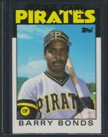 1986 Topps Traded Barry Bonds Rookie #11T - Pirates Giants HOF GOAT