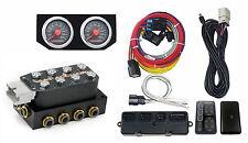 Accuair VU4 4-Corner Solenoid Air Suspension Manifold Black SwitchSpeed & Gauges