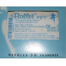 """Ballet Electrolysis Needles F2 """"I"""" -50PK"""