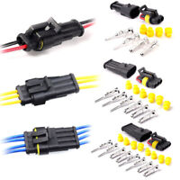 10 Set 2/3 Pin Way Sealed Waterproof Electrical Wire Connector Plug Car Auto Kit