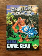 Chuck Rock Sega Game Gear Instruction Manual Only