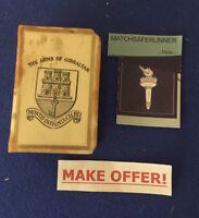 ARMS OF GIBRALTAR & ROCK OF GIBRALTAR CELLULOID MATCH BOX HOLDER VESTA CASE