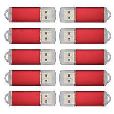 Bulk 10pcs Red 16GB USB Flash Drives 16G Memory Stick Thumb Storage Pen Disk 15