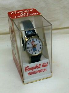 MIB Vintage Campbell Kid (Girl) Wristwatch Wind-Up, Working Campbell Soup Comp.