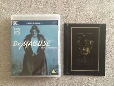 Dr Mabuse 2 Disc Blu-Ray & 32 Page Booklet Master Of Cinema Fritz Lang Silent