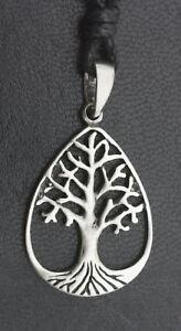 Halskette Mit Anhänger Lebensbaum Schmuck Keltisch Bretonischer Irland aus Zinn