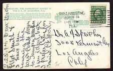 $Florida Machine Cancel Cover, Saint Augustine, 2/25/1914, earliest recorded imp