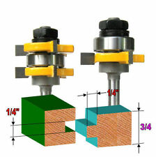 "2 pc 1/4"" Sh 1/4""x1/4"" Tongue & Groove Joint Assembly Router Bit Set sct-888"