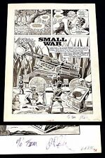 Creepy #114 Original Art Small War Jim Starlin Signed & Inscribed Title Page CGC