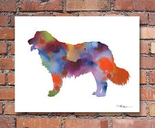 Kuvasz Abstract Watercolor Painting Art Print by Artist Dj Rogers