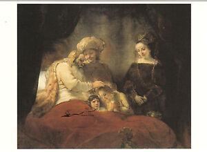 Kunstkarte / Postcard Art - Rembrandt: Jakob segnet die Söhne Josefs