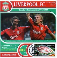 Liverpool 2006-07 Wigan Dirk Kuyt/Peter Crouch Football Stamp Victory Card #631