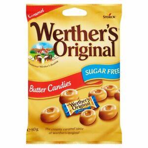 WERTHERS ORIGINAL SUGAR FREE BUTTER CANDIES ~ 80 g ~ Sugar free diet ~ Werther's