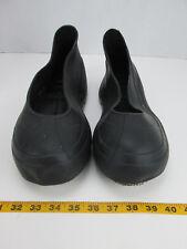 NSP XXL Black Overshoe Rubber Boot Covers W/ Gription Soles Slip Ons SKUCCS