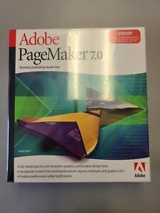 NEW Adobe PageMaker 7.0 Version Retail Upgrade for PC  NEW Sealed