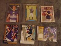 Joe Flacco Rookie Card Game Used Singles Lot x 6,Baltimore Ravens HOF